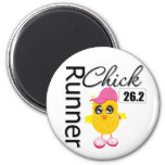 26.2 Miles Marathon Runner Chick Magnet