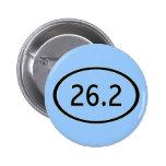 26,2 millas de botón pins