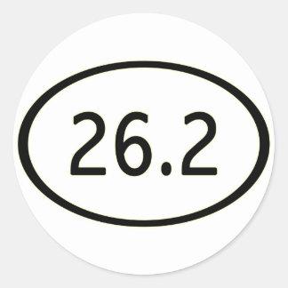 26,2 millas de pegatina