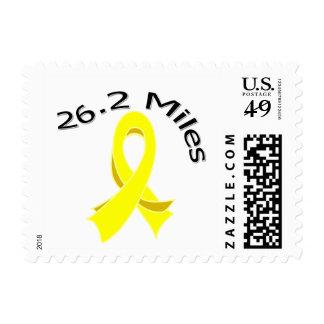 26,2 millas del maratón de la cinta de cáncer de sellos