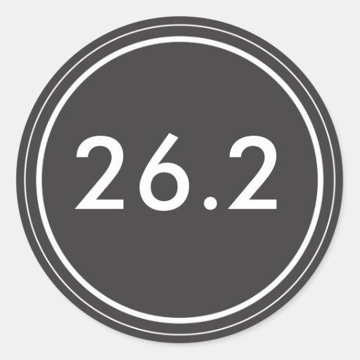 26,2 Negro del pegatina el | con el texto blanco