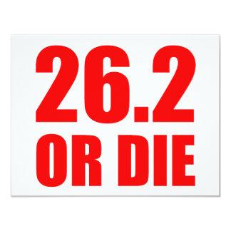 26.2 OR DIE 4.25X5.5 PAPER INVITATION CARD