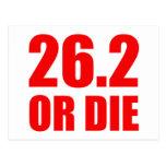 26.2 OR DIE POST CARD