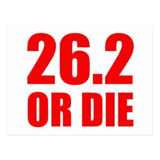 26.2 OR DIE POSTCARD