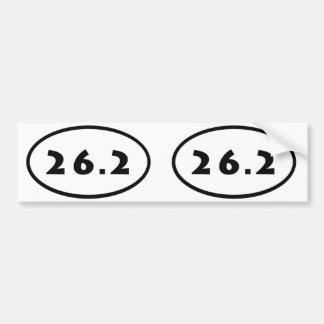 26.2 oval bumper sticker