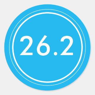 26,2 Pegatina el   azul claro con blanco