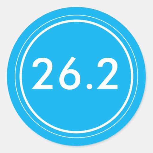 26,2 Pegatina el | azul claro con blanco