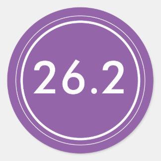 26,2 Pegatina el   púrpura y blanco