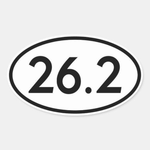 26,2 Pegatina oval