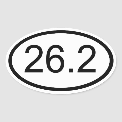 26,2 PEGATINA OVALADA