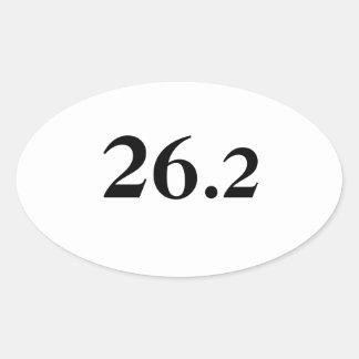 26,2 Pegatina para el parachoques del maratón
