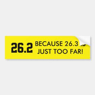 26,2 Pegatina para el parachoques Pegatina Para Auto