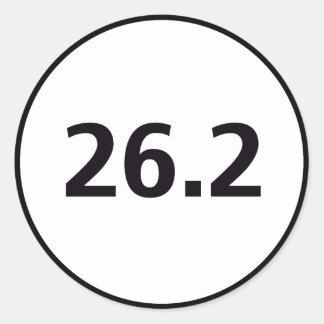 26,2 redondos pegatina redonda