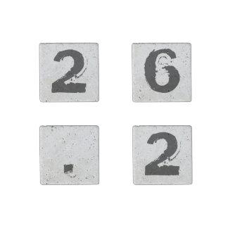 26,2 Regalo determinado del corredor de maratón Imán De Piedra