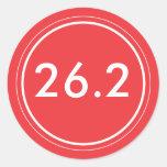 26,2 Rojo del pegatina el | con blanco