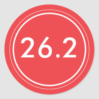 26,2 Rojo del pegatina el   con blanco