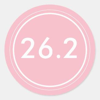 26,2 Rosa del pegatina el   con blanco