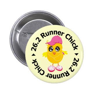 26 2 Runner Chick Pinback Buttons