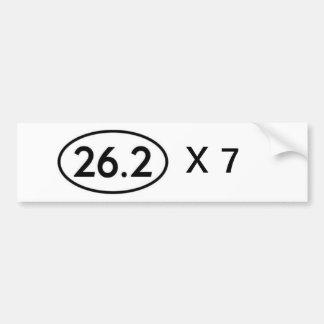 26,2 serial marathoner car bumper sticker