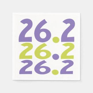 26,2 Tema de papel del corredor de maratón de las Servilletas De Papel