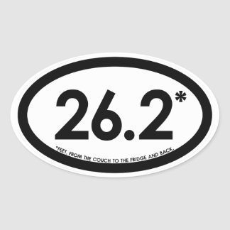 26.2* V1 Snarky Smug Self-Satisfied Oval Sticker