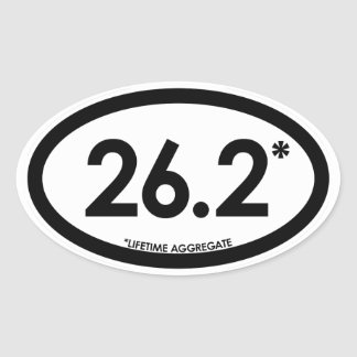 26.2* V2 Snarky Smug Self-Satisfied Oval Sticker