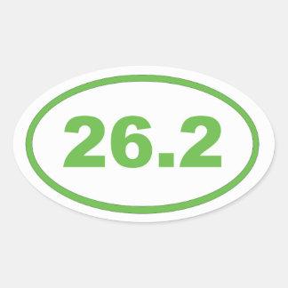 26,2 Verde claro Pegatina Ovalada