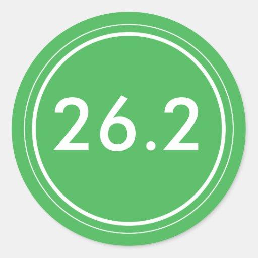 26,2 Verde del pegatina el | con blanco