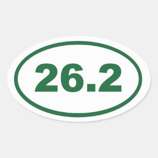 26,2 Verde Pegatina Ovalada