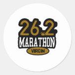 26,2 Virgen del maratón Pegatina Redonda