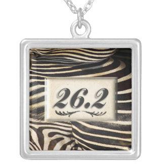 26.2 Zebra Marathon necklace for runner