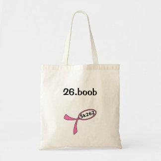 26.boob budget tote bag