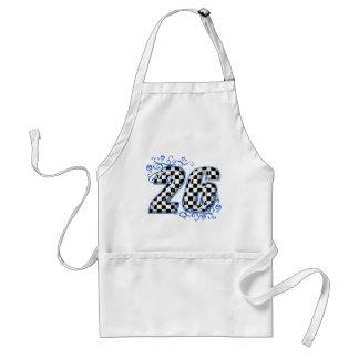 26 checkeres flag blue apron