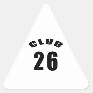26 Club Birthday Designs Triangle Stickers