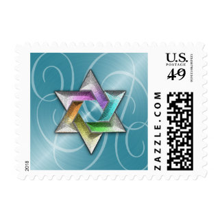 26 Different Colors Gold Star of David Postage