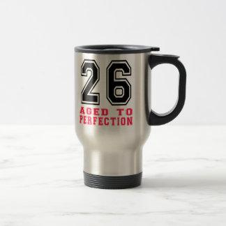 26 envejecido a la perfección tazas