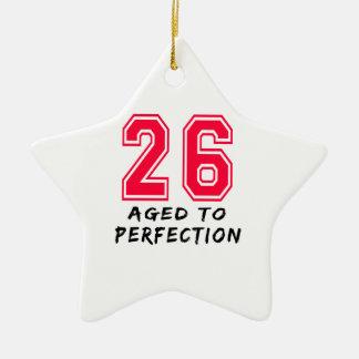 26 envejeció al diseño del cumpleaños de la perfec adornos