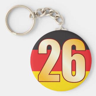 26 GERMANY Gold Basic Round Button Keychain