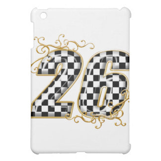 26 gold checkers flag number iPad mini cases