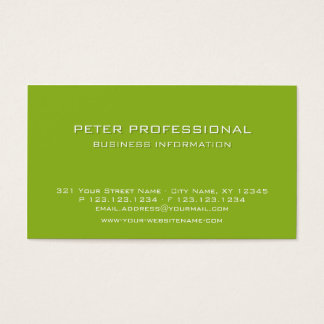 26 Modern Professional Business Card lime green