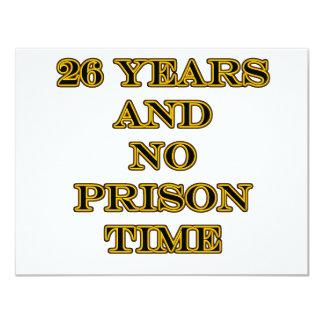 26 No prison time Card