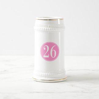 #26 Pink Circle Beer Stein