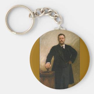26 Theodore Roosevelt Basic Round Button Keychain