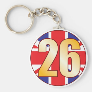 26 UK Gold Keychain