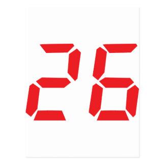 26 veintiséis números digitales del despertador de tarjeta postal