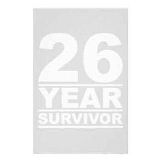26 year survivor stationery