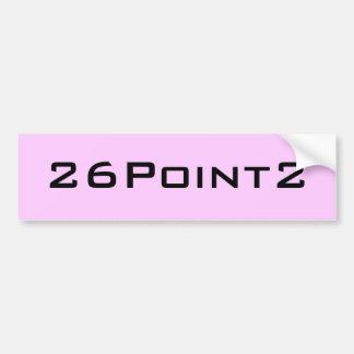 26Point2 (26.2) Marathon Bumper Sticker (Pink)