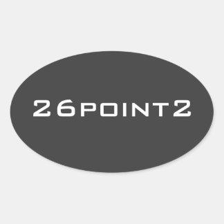 26Point2 (26.2) Marathon Runner Oval Sticker