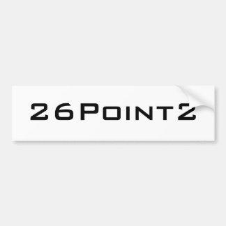 26Point2 (26.2) Marathon Running Bumper Sticker