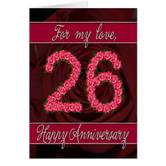 For 26th Wedding Anniversary Greeting Cards Zazzle
